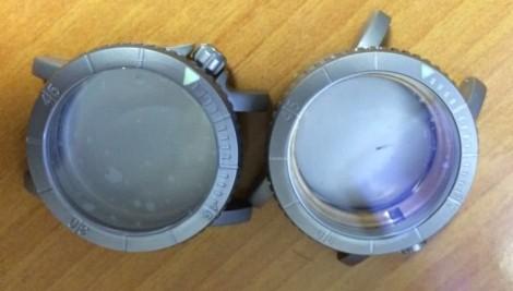 Titanium grade 5 [left] vs grade 2 [right]