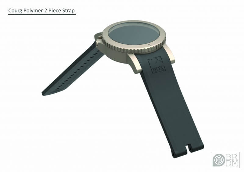 COURG Silicone Strap Concept 2 - Buckle Side
