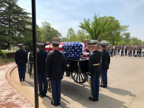 Burial with Honors, Arlington Cemetery