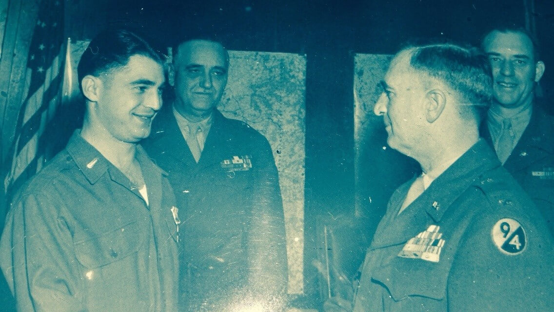 My father with General Harry J. Malony who commanded the 94th Infantry Division.