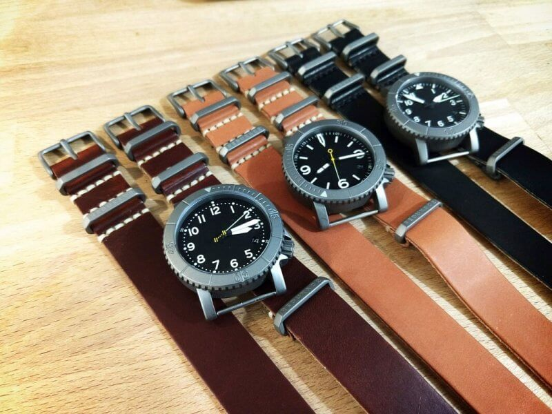 American Leather Single Layer Watch Strap