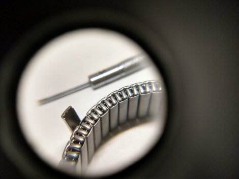 Titanium plate lifted from flex watch band