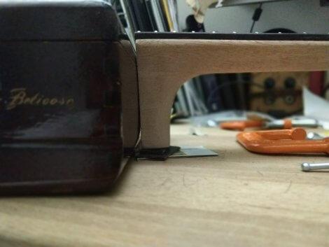 Cigar Box Ukulele Neck Curve