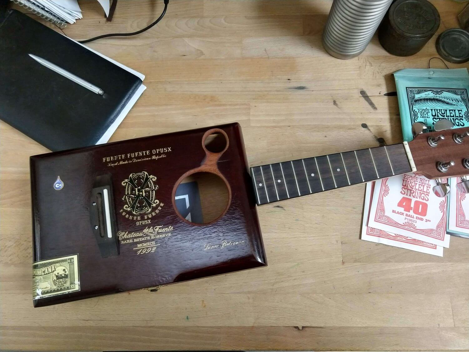 Cigar Box Ukulele Finished