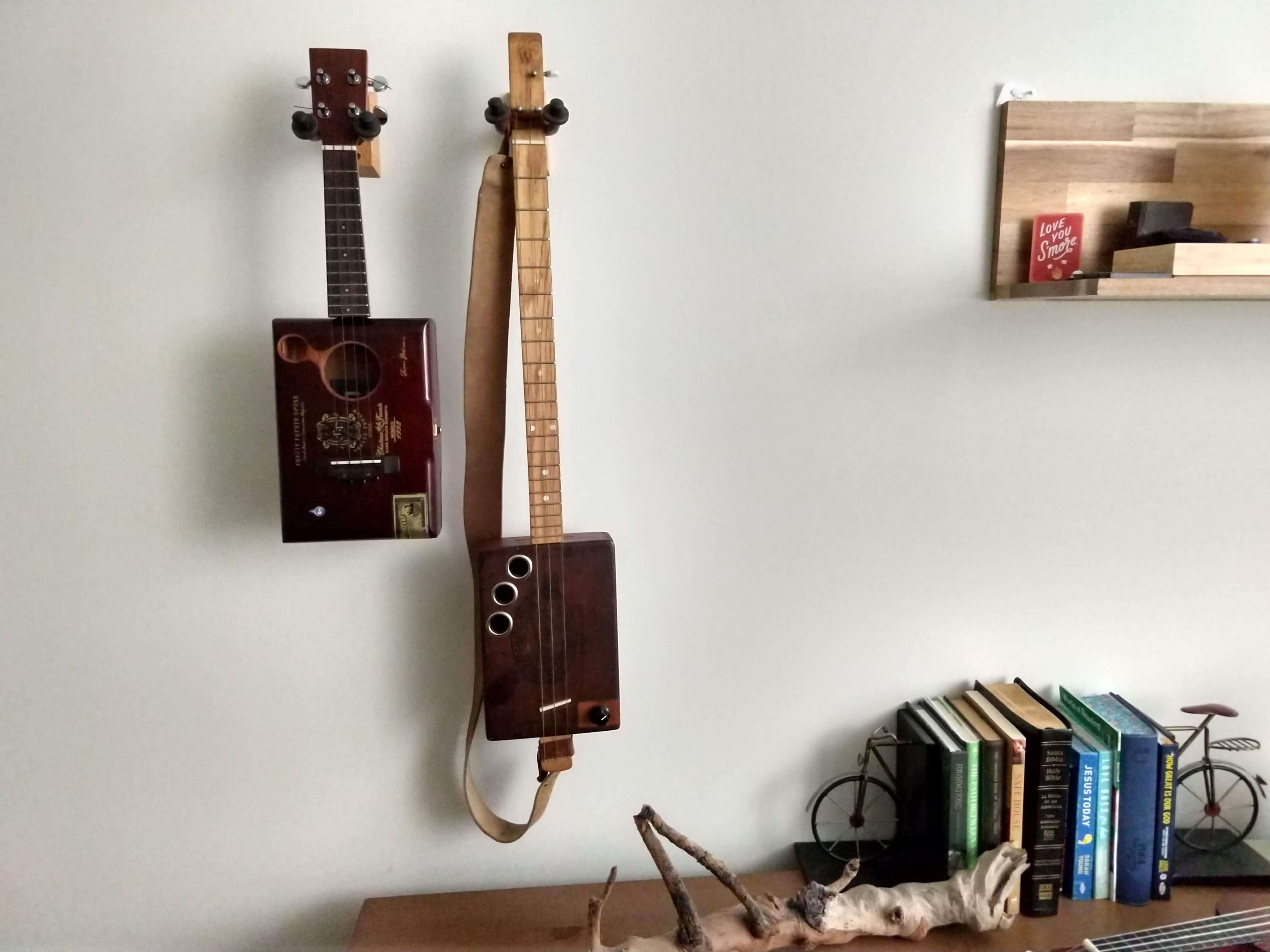 Cigar Box Ukulele and Guitar